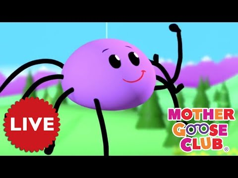LIVE NURSERY RHYMES | Itsy Bitsy Spider | Baby Songs | Mother Goose Club COMPILATION | NURSERY RHYME