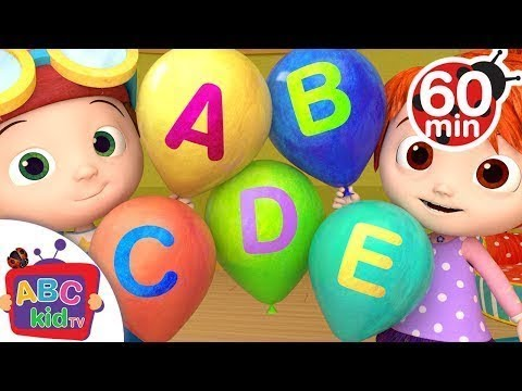 ABC Song with Balloons | + More Nursery Rhymes & Kids Songs – ABCkidTV