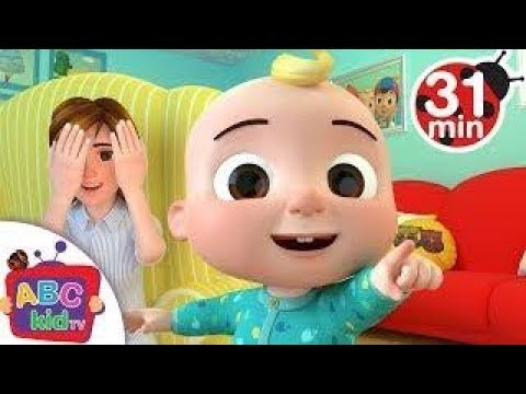Peek a Boo Song   +More Nursery Rhymes   Kids Songs   ABCkidTV