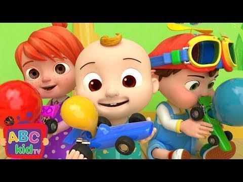 Toy Balloon Car Race | Nursery Rhymes & Kids Songs – ABCkidTV