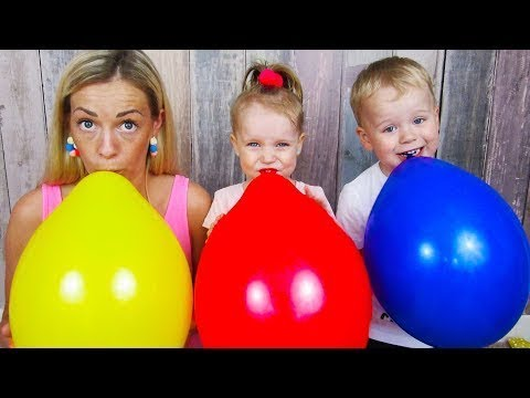 Learn Colors with Balloons / Little Babies Learn Colors and Playing / Baby Nursery Rhymes Song