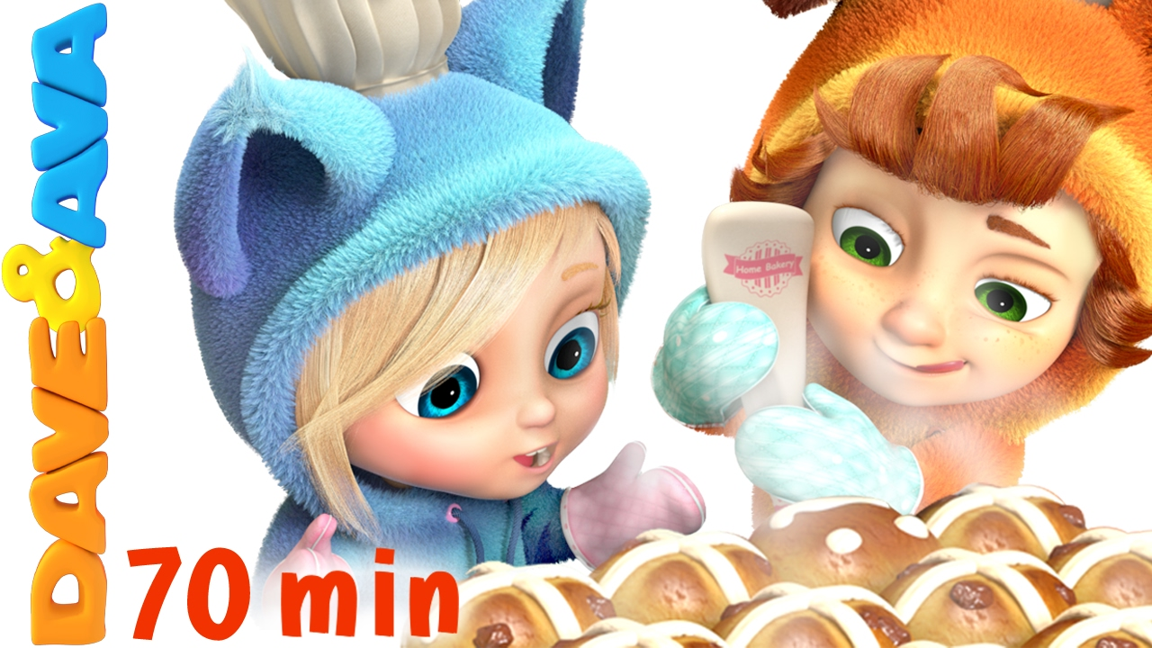 ? Hot Cross Buns   Nursery Rhymes and Kids Songs   Children Rhymes from Dave and Ava ?