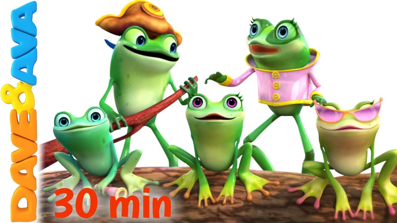 ?  Five Little Speckled Frogs | Nursery Rhymes Collection from Dave and Ava ?