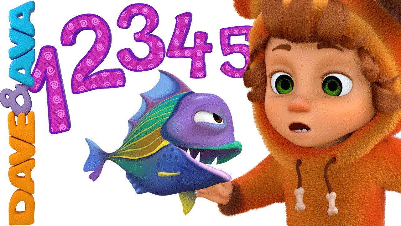 12345 Once I Caught a Fish Alive | Nursery Rhymes and Baby Songs from Dave and Ava