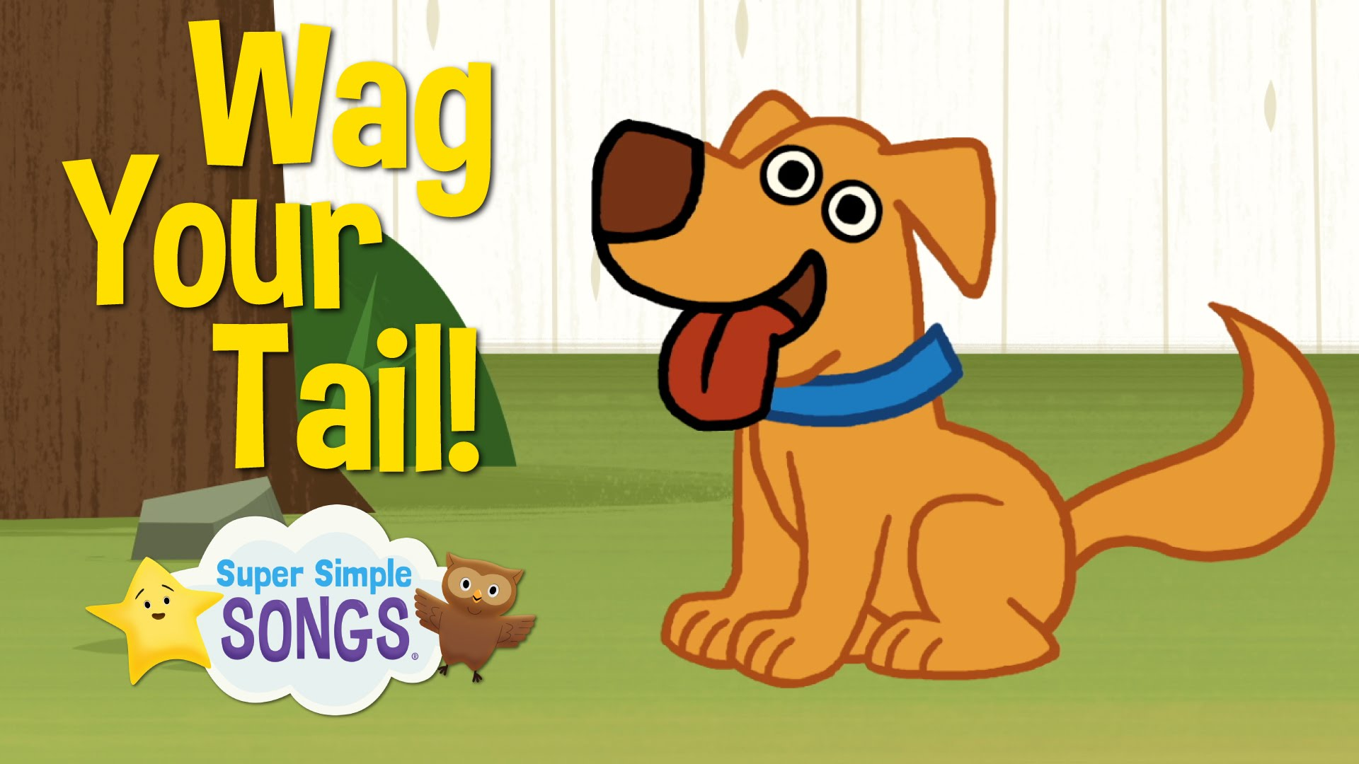 Wag Your Tail | Animal Action Verb Song | Super Simple Songs