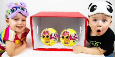 What`s in the Box Challenge with Funny Kids Gaby and Alex