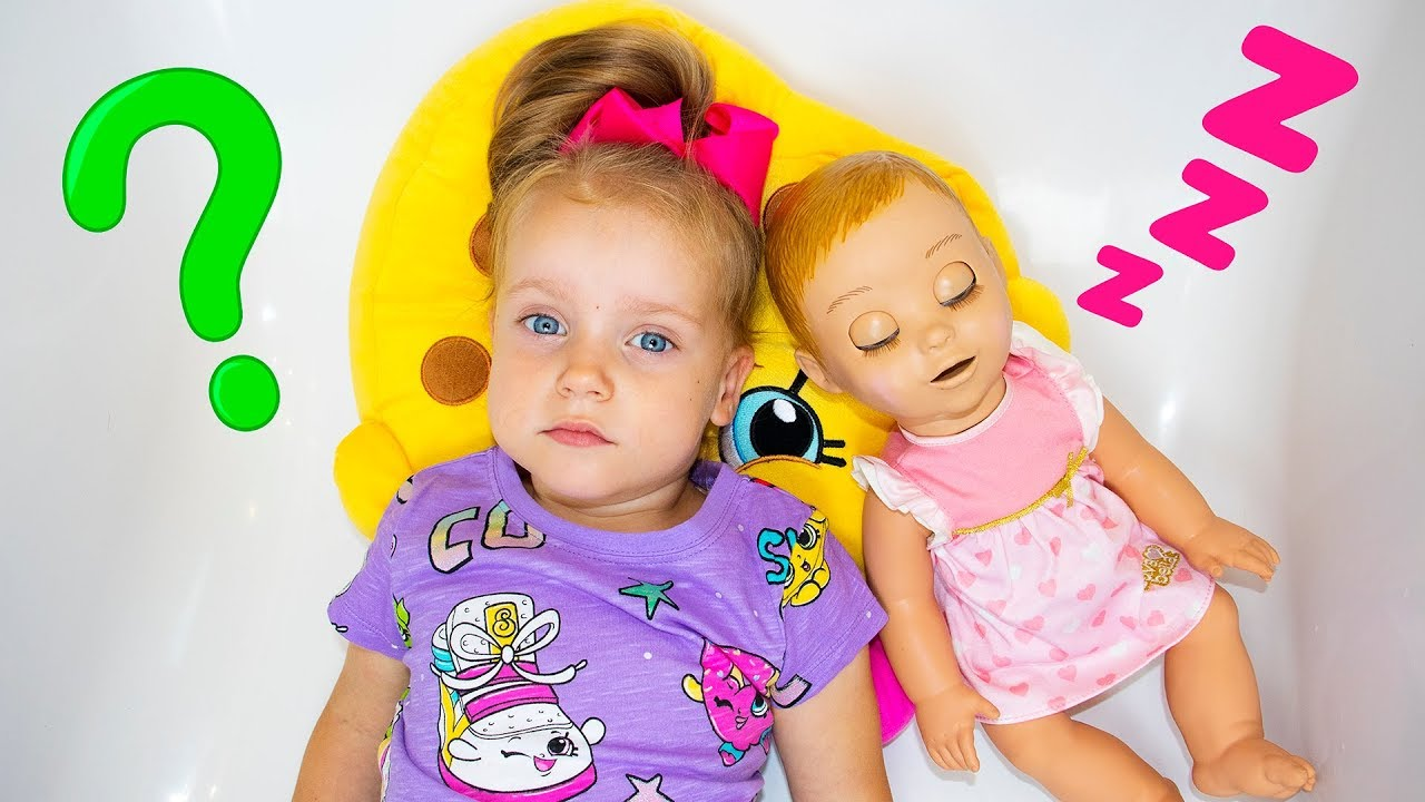 Gaby and Alex Pretend Play with Baby Doll Video for Children