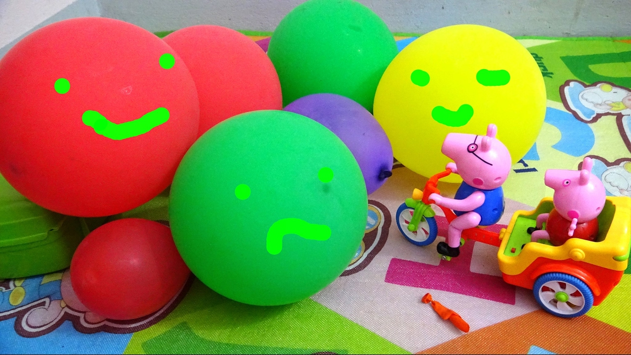 Little Babies Playing With Balls, Learn Colors with Balloons / Baby Nursery Rhymes Song