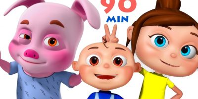Five Little Piggies And Many More | 90 Min Non Stop Nursery Rhymes | 3d Rhymes Collection