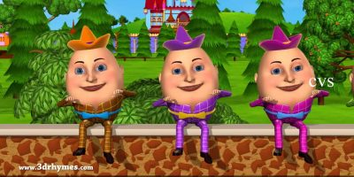 Humpty Dumpty Nursery Rhyme – 3D Animation English Rhymes for children