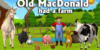 Old MacDonald Had A Farm – 3D Animation English Nursery Rhymes & Songs for children