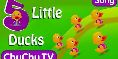 Five Little Ducks Nursery Rhyme With Lyrics – Cartoon Animation Rhymes & Songs for Children