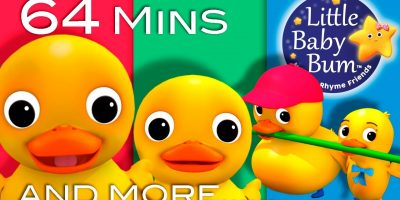 Six Little Ducks | Plus Lots More Nursery Rhymes | 64 Minutes Compilation from LittleBabyBum!