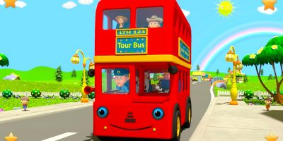 Wheels On The Bus | Kindergarten Nursery Rhymes & Songs for Kids