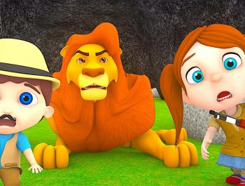 Going on a Lion Hunt | Kindergarten Nursery Rhymes & Songs for Kids
