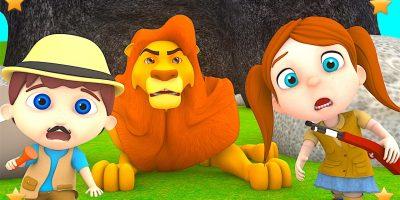 Going on a Lion Hunt | Kindergarten Nursery Rhymes & Songs for Kids