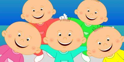 Five Little Babies | baby nursery rhymes | baby songs | kids baby club