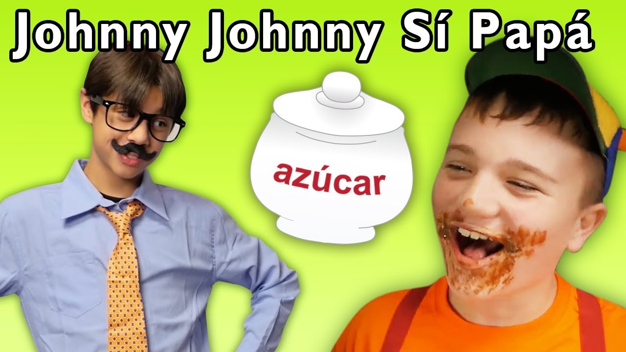 Johnny Johnny Yes Papa en Español | Canciones Infantiles | Mother Goose Club in Spanish