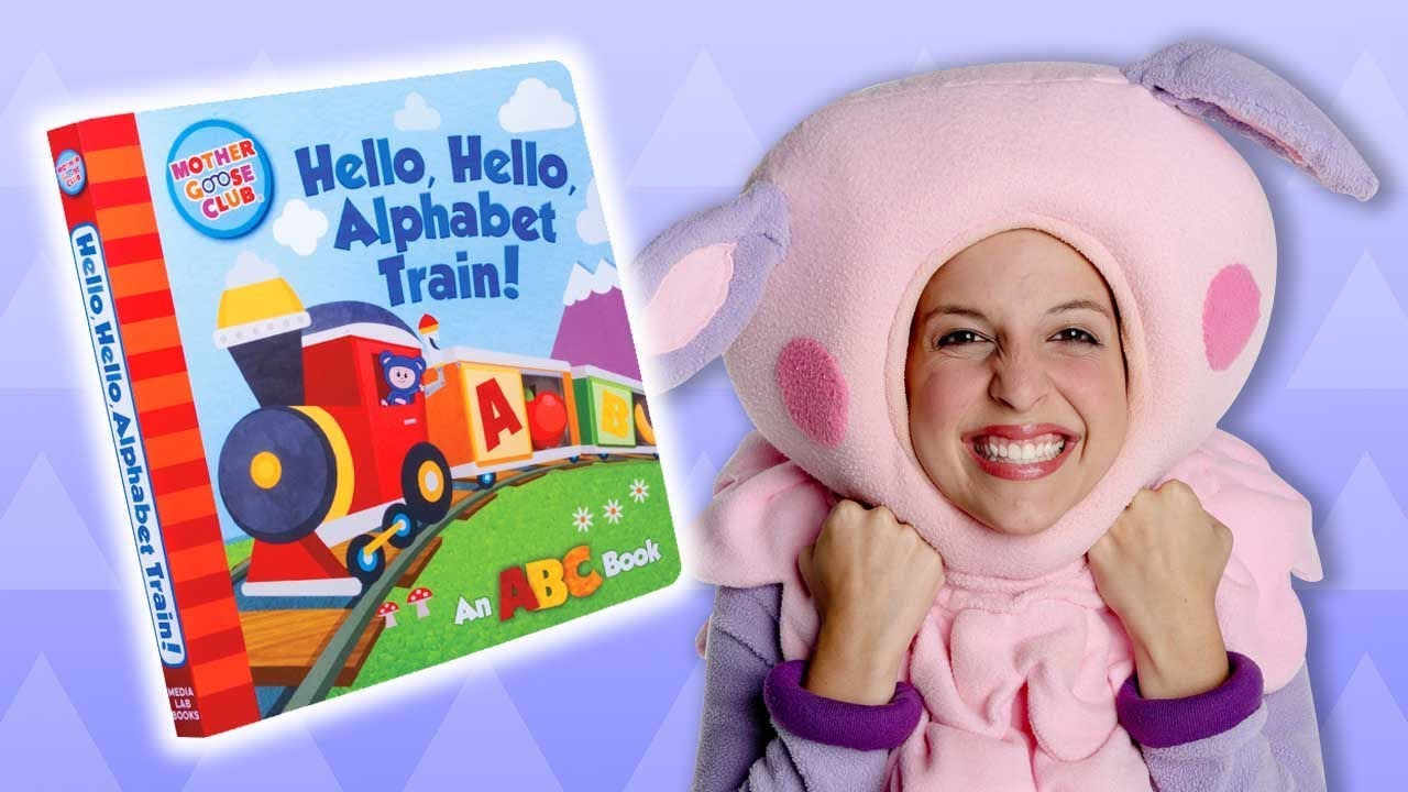 NEW Board Book from the Mother Goose Club | HELLO, HELLO, ALPHABET TRAIN | On Sale Now!