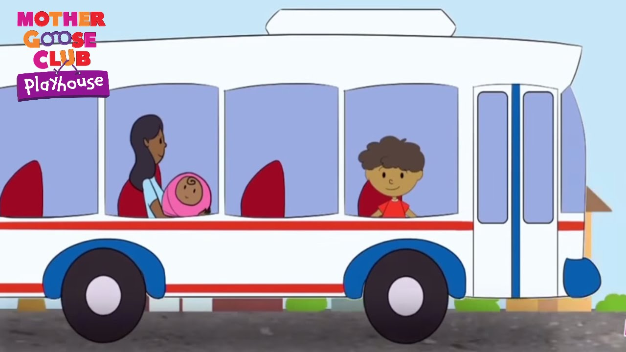 The Wheels on the Bus Go Round and Round | Mother Goose Club Playhouse Kids Songs | Nursery Rhymes