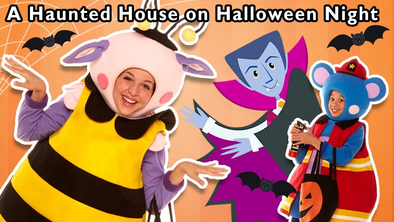 A Haunted House on Halloween Night and More | TRICK OR TREAT SURPRISE | Mother Goose Club Songs!