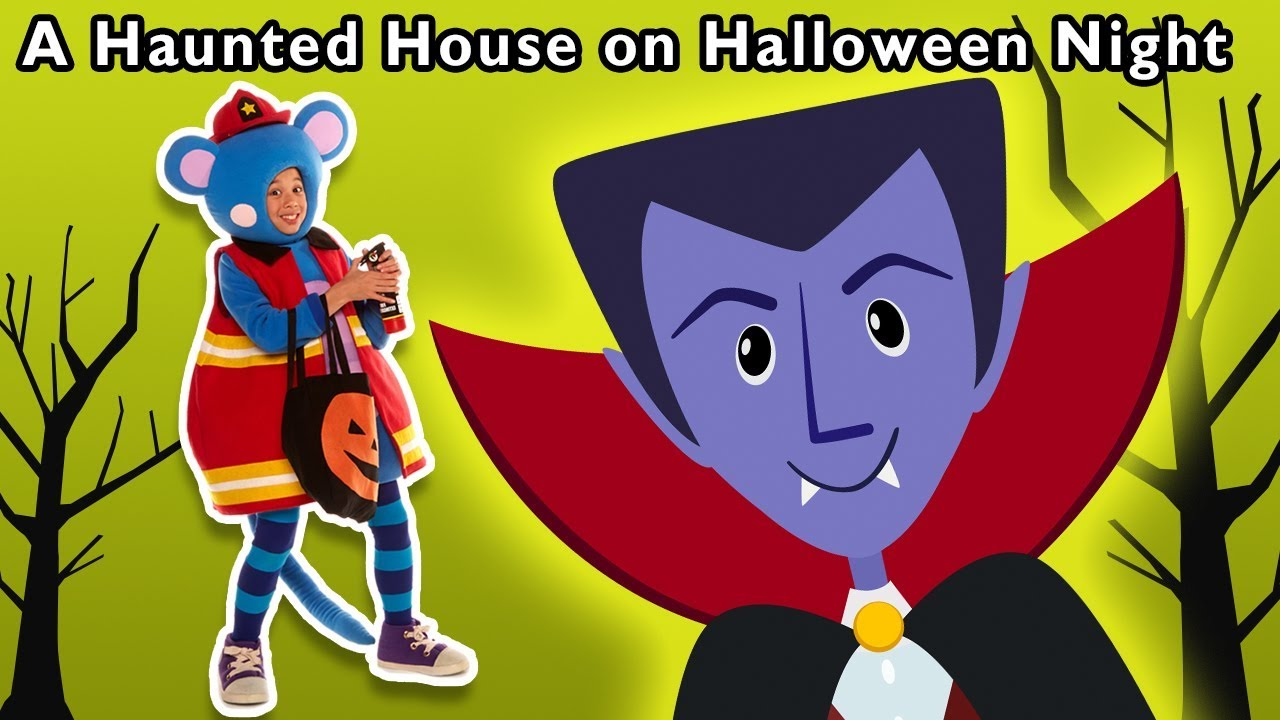 A Haunted House on Halloween Night ? and More | SCARY DRESS UP COSTUMES | Mother Goose Club!
