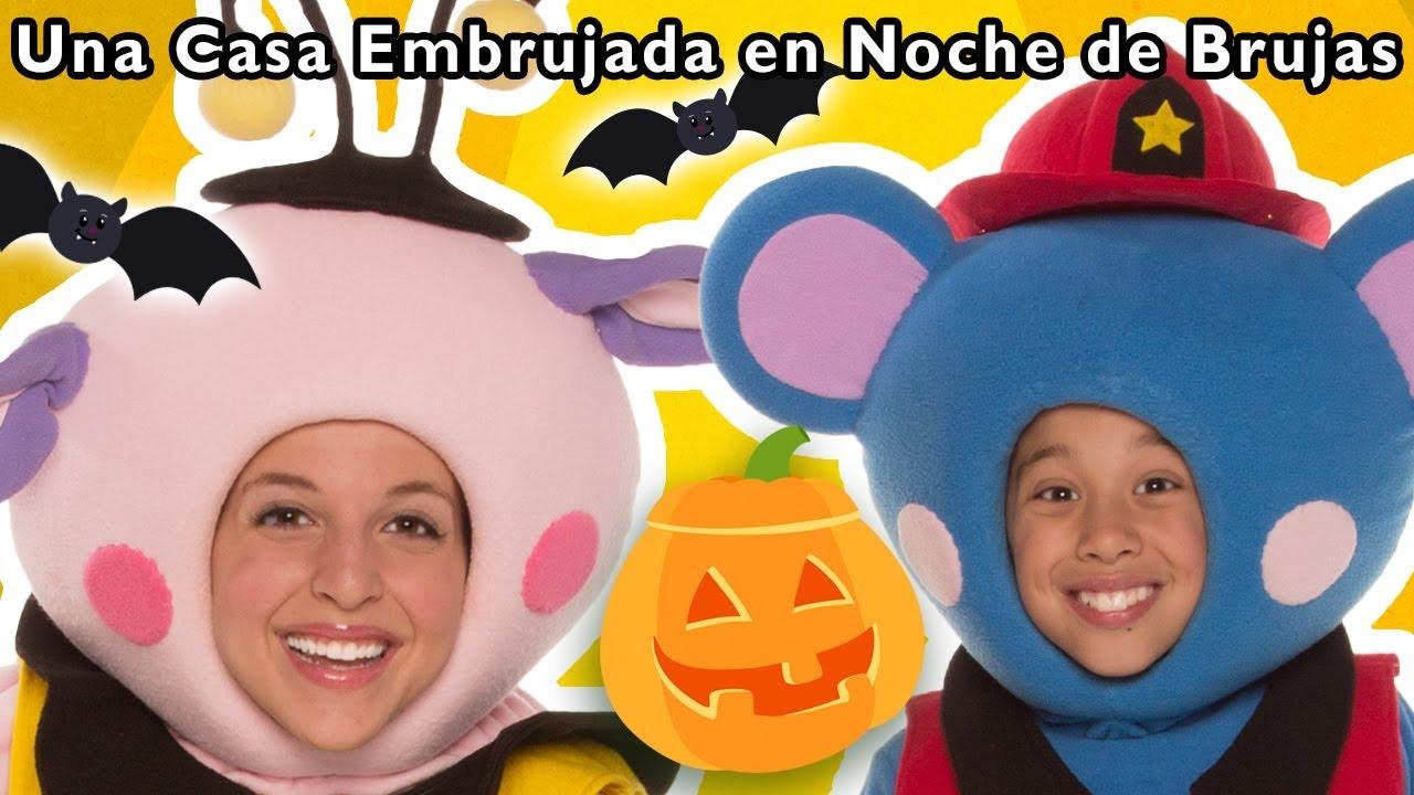 Una Casa Embrujada en Noche de Brujas  y Más | Halloween ?? | Mother Goose Club in Spanish