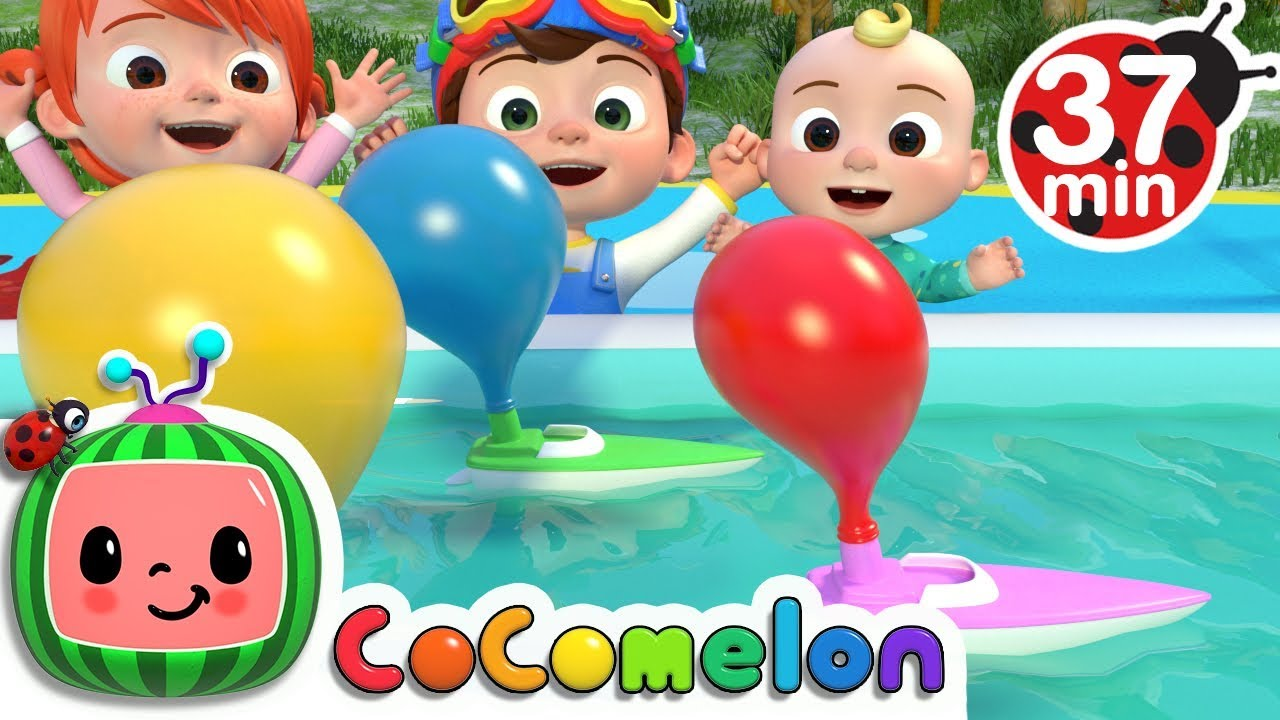 Balloon Boat Race | +More Nursery Rhymes & Kids Songs – Cocomelon (ABCkidTV)
