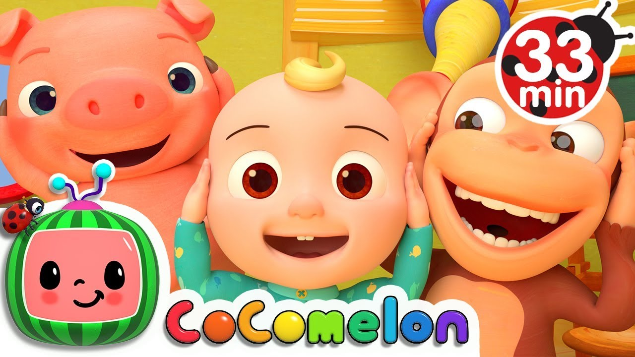 Head Shoulders Knees and Toes | +More Nursery Rhymes & Kids Songs – Cocomelon (ABCkidTV)