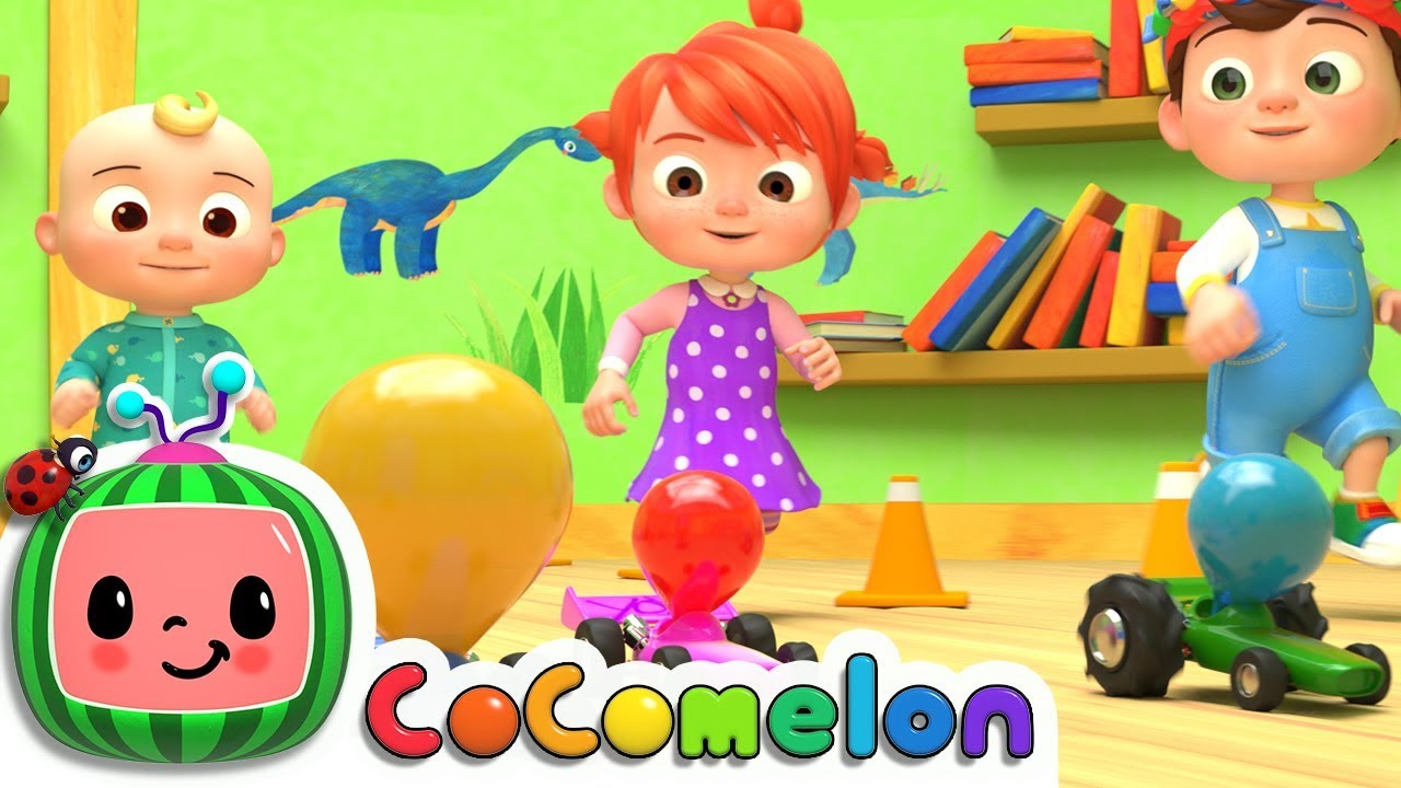 Toy Balloon Car Race | Cocomelon (ABCkidTV) Nursery Rhymes & Kids Songs