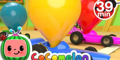 Toy Balloon Car Race | +More Nursery Rhymes & Kids Songs – Cocomelon (ABCkidTV)