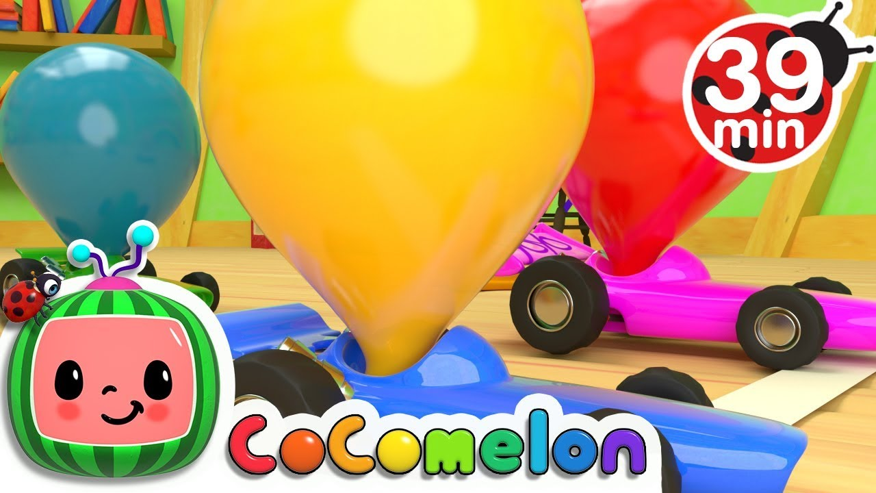 Toy Balloon Car Race   +More Nursery Rhymes & Kids Songs – Cocomelon (ABCkidTV)