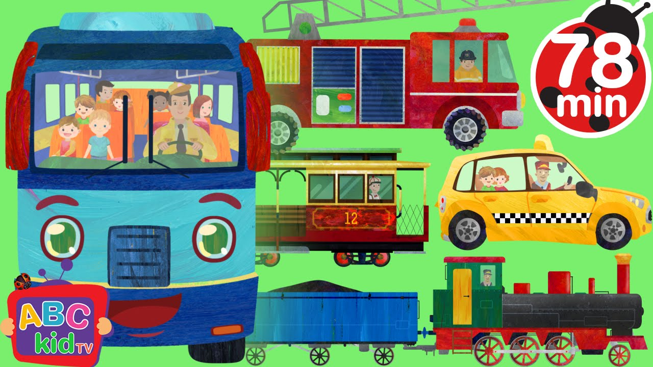 Wheels on the Bus and Vehicles | +More Nursery Rhymes & Kids Songs – Cocomelon (ABCkidTV)