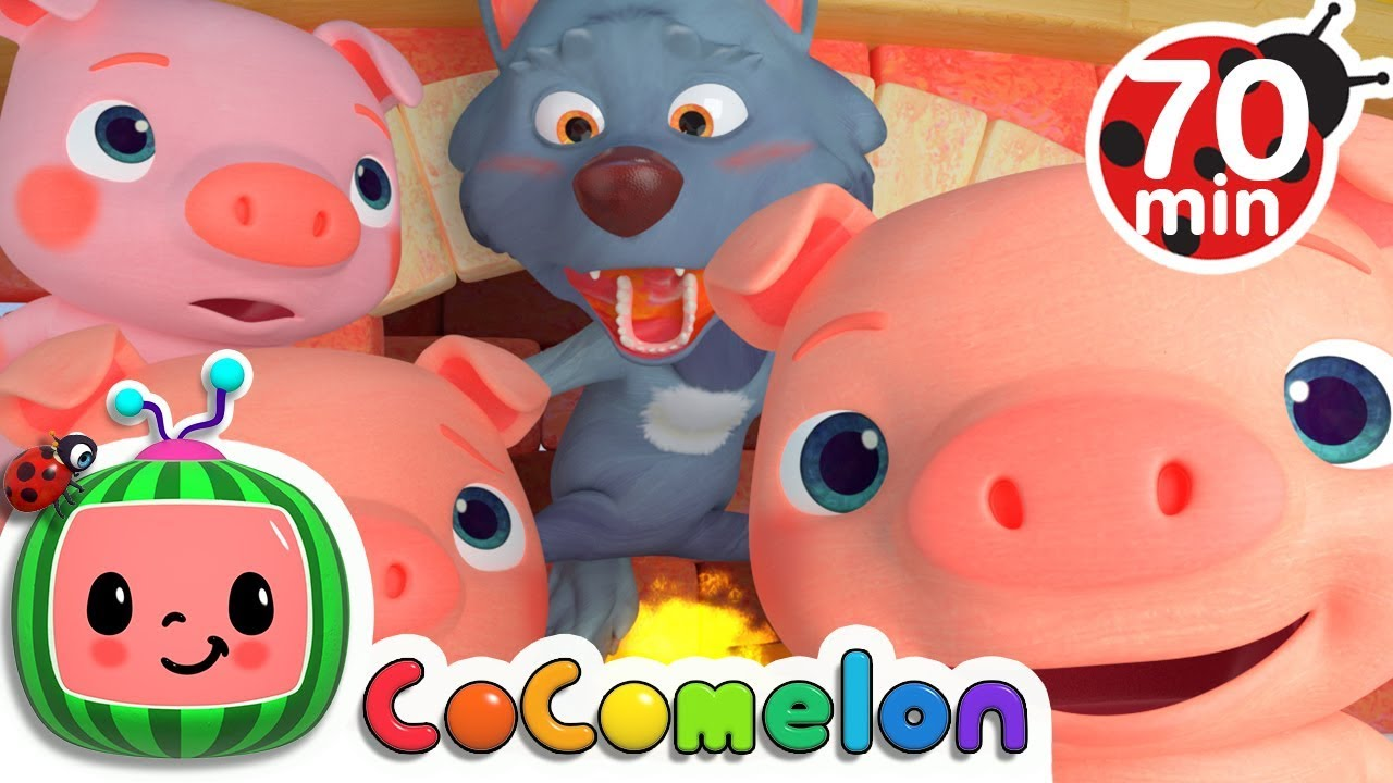 Three Little Pigs | +More Nursery Rhymes & Kids Songs – Cocomelon (ABCkidTV)