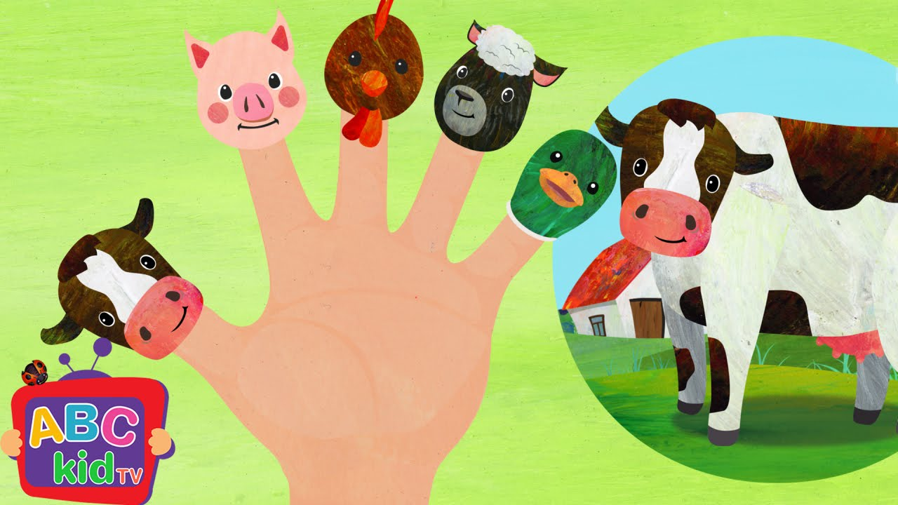 Finger Family Farm Animals (2D)   Cocomelon (ABCkidTV) Nursery Rhymes & Kids Songs
