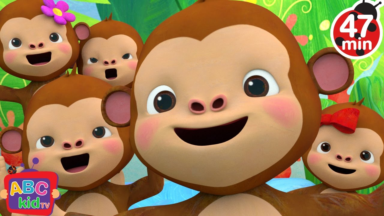 Five Little Monkeys Jumping on the Bed 2 | +More Nursery Rhymes & Kids Songs – Cocomelon (ABCkidTV)