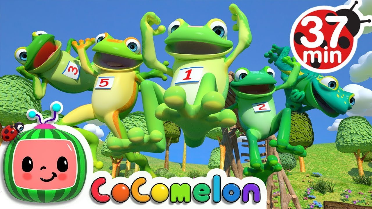 Five Little Speckled Frogs | +More Nursery Rhymes – Cocomelon (ABCkidTV)