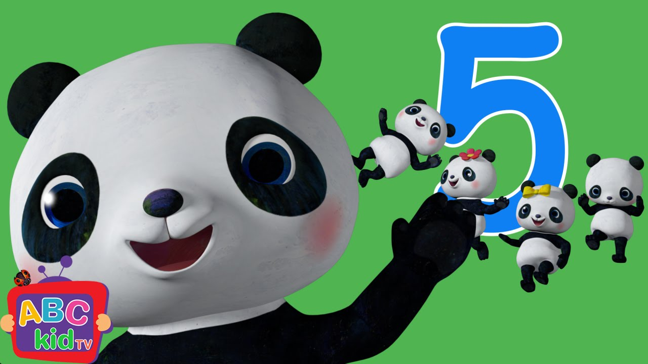 Five Little Pandas Jumping on the Bed   Cocomelon (ABCkidTV) Nursery Rhymes & Kids Songs