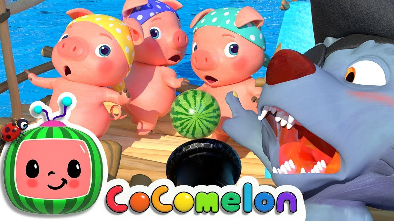 Three Little Pigs 2 | Cocomelon (ABCkidTV) Nursery Rhymes & Kids Songs