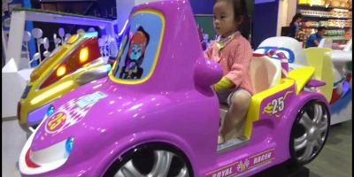 ABCkidTV Misa at indoor playground for kids with car toys – Nursery rhymes songs