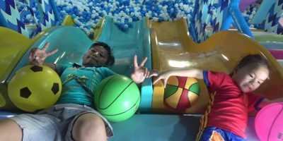 ABCkidTV Misa learn color with football at indoor playground family fun – Nursery rhymes for baby