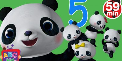 Five Little Pandas Jumping on the Bed   +More Nursery Rhymes & Kids Songs – Cocomelon (ABCkidTV)