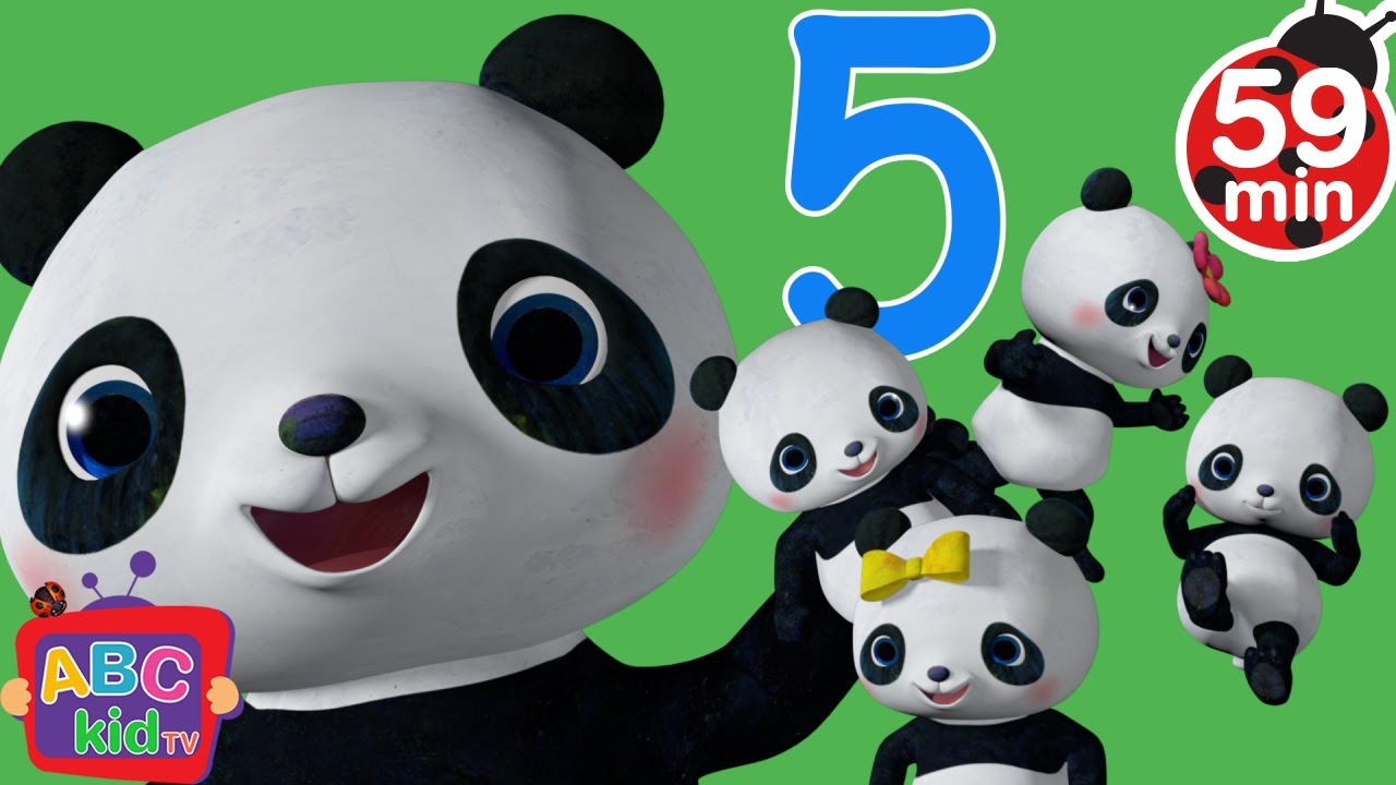 Five Little Pandas Jumping on the Bed | +More Nursery Rhymes & Kids Songs – Cocomelon (ABCkidTV)