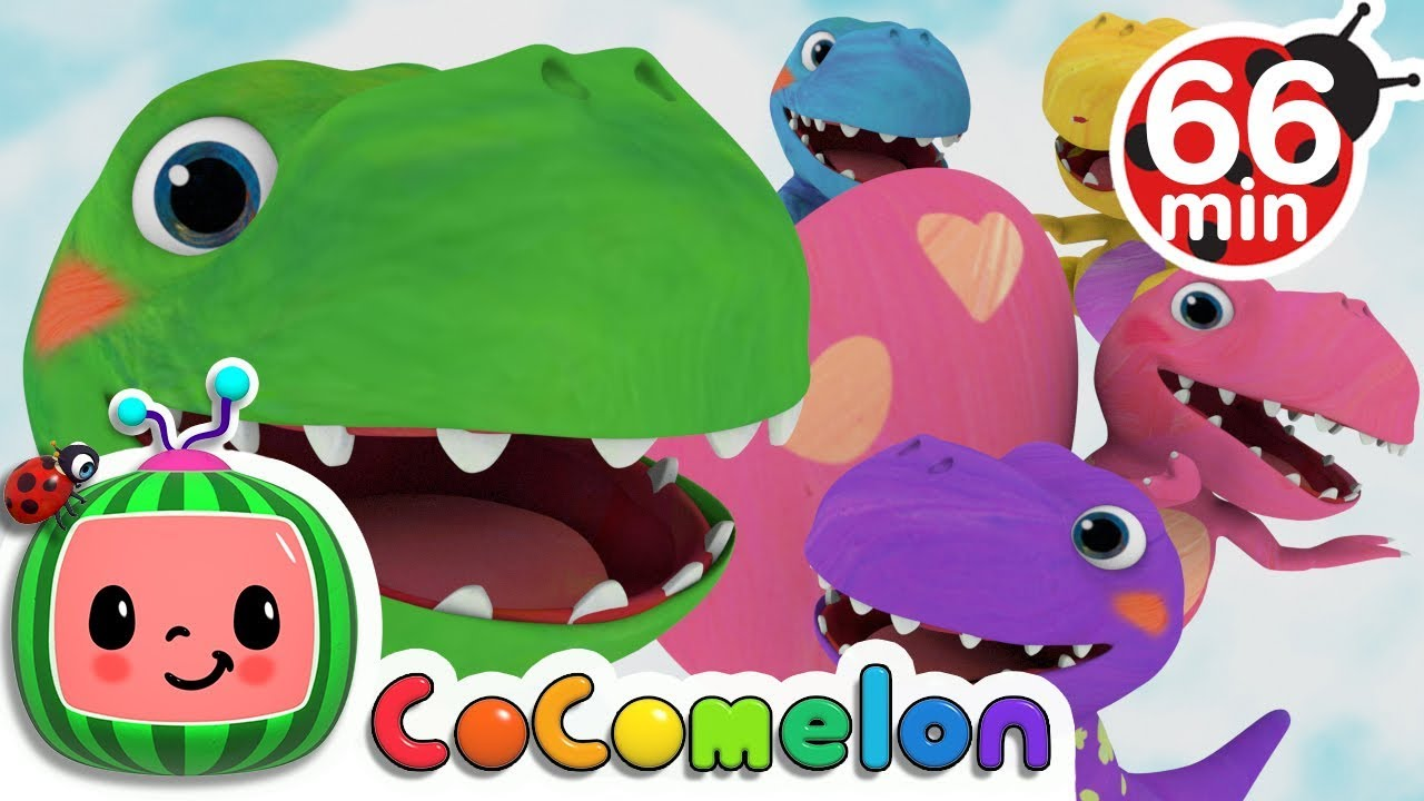 Five Little Dinosaurs | +More Nursery Rhymes & Kids Songs – Cocomelon (ABCkidTV)