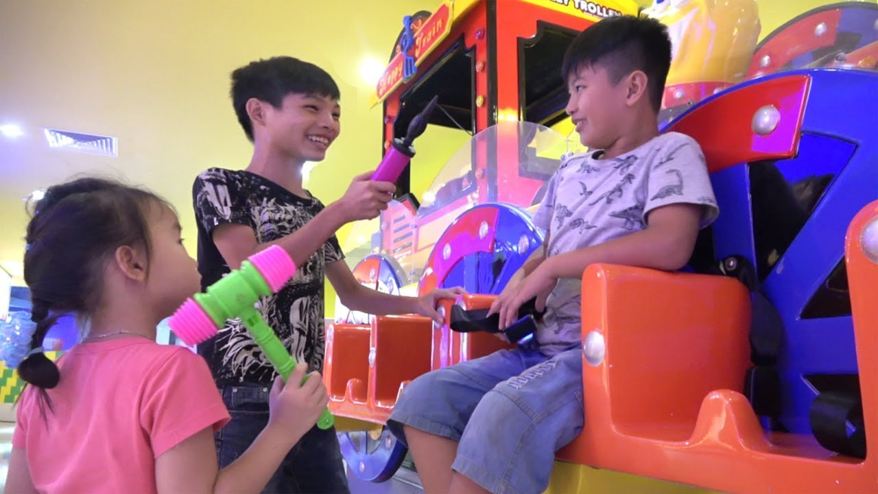 Indoor playground for kids pretend play with Abckidtv Misa   Funny Video for children