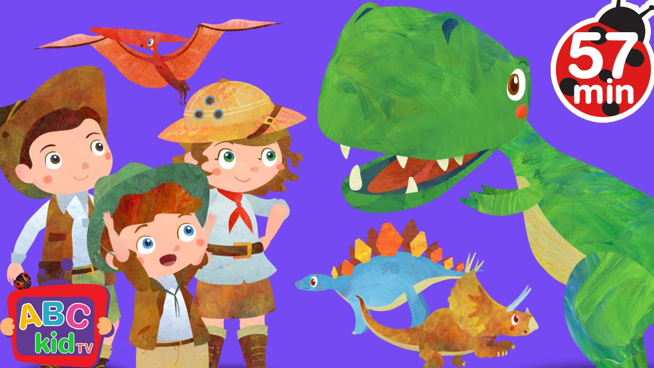 Dinosaurs Song (2D) | +More Nursery Rhymes & Kids Songs – Cocomelon (ABCkidTV)