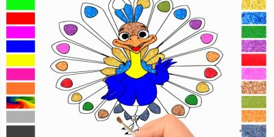 Abckidtv Misa drawing Peacock for kids – video for kids