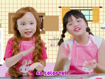 Let's Make Colorful Cakes – Learn Colors with Nia & Nam ABCkidTV Indoor Playground Nursery Rhymes