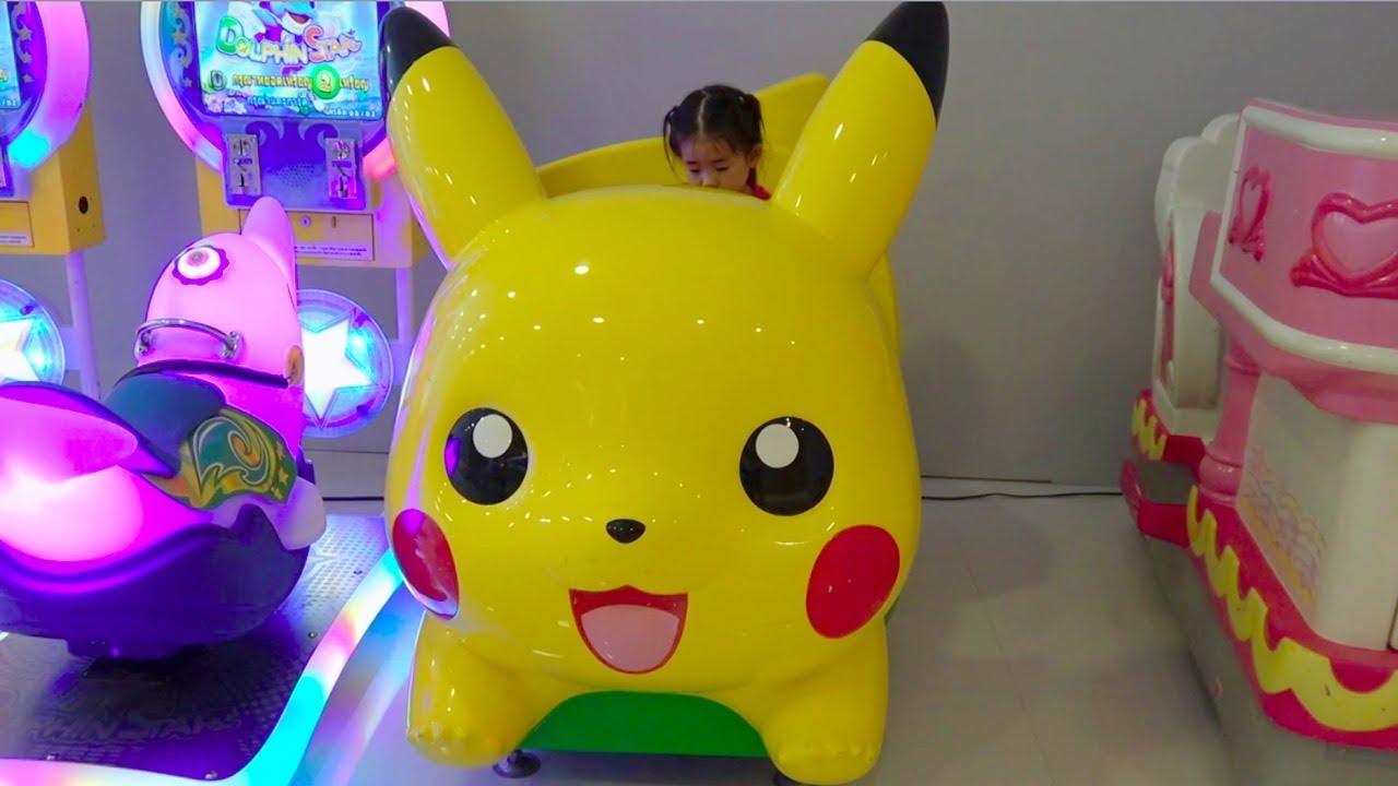 ABCkidTV Mika with Picachu and Toys Car Indoor playground for children – Video for kids