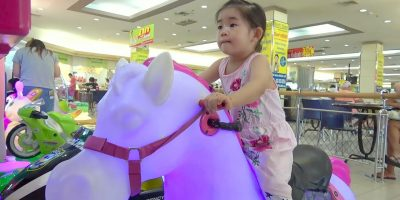 ABCkidTV Mika at indoor playground for kids with car toys – Nursery rhymes songs